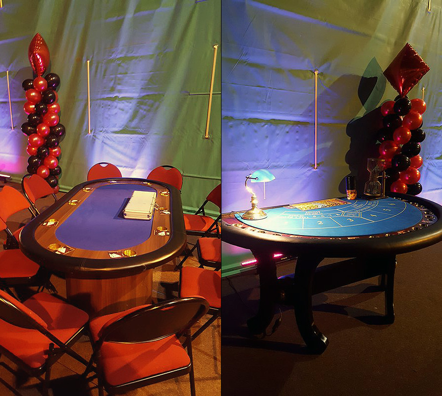 Décoration soirée casino professionnelle