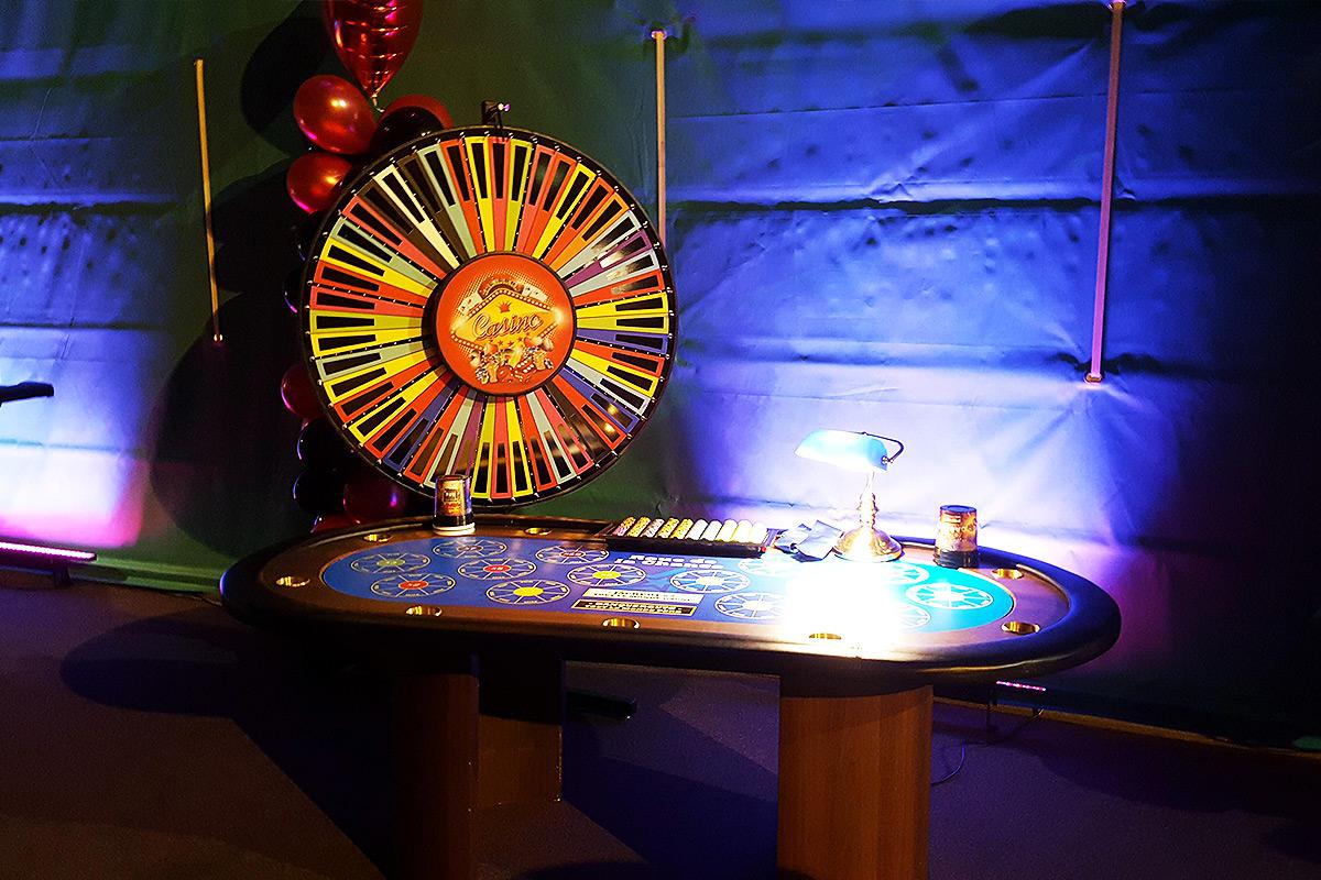 Table Roue de la Chance pour votre soirée casino