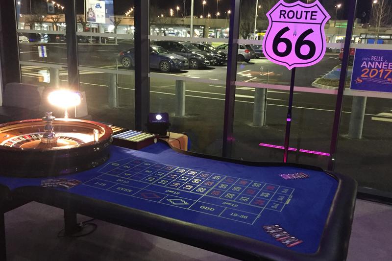 Soirée casino location table de roulette