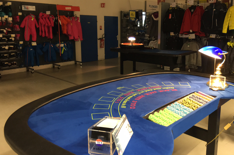 Location Table de Black Jack pour animation magasin