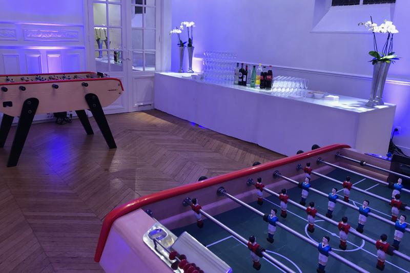 Location jeux de casino et Baby Foot à Paris